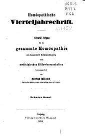 Homöopathische Vierteljahrschrift: Band 10