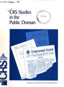 CRS Studies in the Public Domain PDF