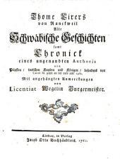 Alte Schwäbische Geschichten