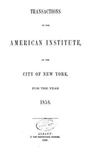 Annual Report of the American Institute of the City of New York PDF