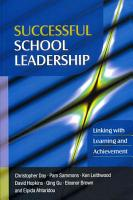 Successful School Leadership  Linking With Learning And Achievement PDF
