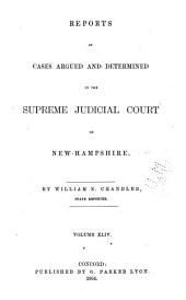 The New Hampshire Reports: Volume 44