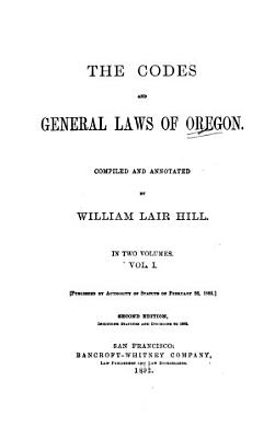 The Codes and General Laws of Oregon PDF