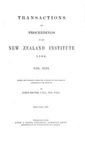 Transactions and Proceedings of the New Zealand Institute: Volume 13