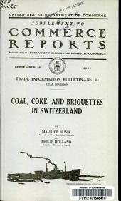 Coal, coke, and briquettes in Switzerland