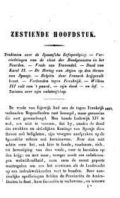 De voornaamste geschiedenissen van Noord-Nederland: Van den vrede te Rijswijk tot aan den dood van Prins Willem IV.