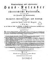 Gemeinnütziger und erheiternder Haus-Calender für das österr. Kaiserthum (etc.) (Red.)von Joseph Ritter von Seyfried: Band 2