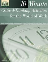 10 Minute Critical Thinking Activities for the World of Work PDF