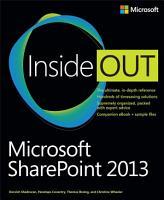 Microsoft SharePoint 2013 Inside Out PDF