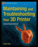 Maintaining and Troubleshooting Your 3D Printer PDF