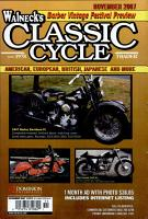 WALNECK S CLASSIC CYCLE TRADER  NOVEMBER 2007 PDF