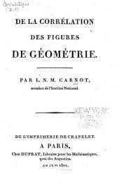 De la corrélation des figures de géométrie