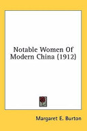 Notable Women of Modern China  1912  PDF