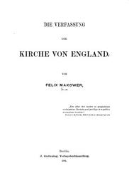 Die Verfassung der Kirche von England PDF