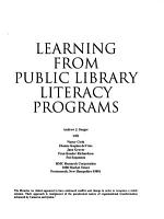 Learning from Public Library Literacy Programs PDF