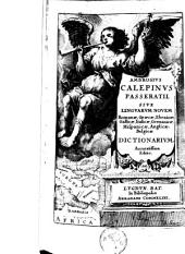 Ambrosivs Calepinvs Passeratii, sive lingvarvm novem Romanæ, græcæ, ebraicæ, gallicæ, italicæ, germanicæ, hispanicæ, anglicæ, belgicæ dictionarivm