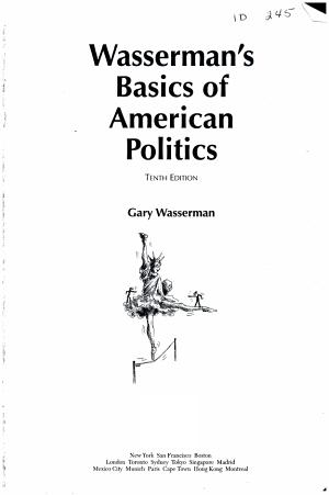 Wasserman s Basics of American Politics PDF