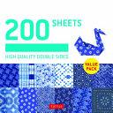 Origami Paper 200 Sheets Japanese Shibori