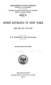 Spirit Leveling in New York, 1896-1905 and 1912-1916: Issues 671-676