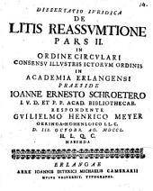 Dissertatio Iuridica De Litis Reassumtione: 2