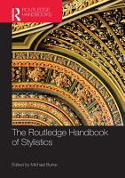 The Routledge Handbook of Stylistics PDF