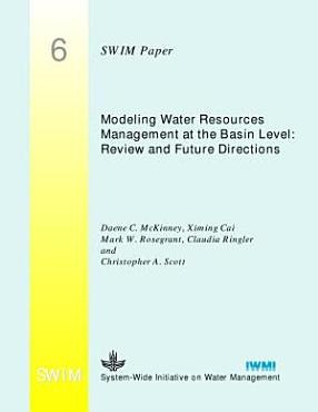 Modeling Water Resources Management at the Basin Level PDF