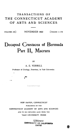Decapod Crustacea of Bermuda: Part 1