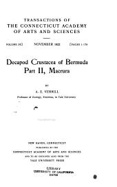 Decapod Crustacea of Bermuda: Part 1