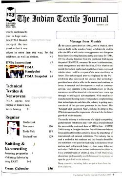 The Indian Textile Journal PDF