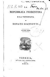 La repubblica Fiorentina e la Veneziana
