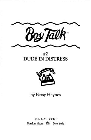 Dude in Distress PDF