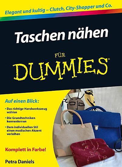 Taschen n  hen f  r Dummies PDF