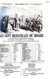 Les sept merveilles du monde grande féerie en 20 tableaux dont un prologue par D'Ennery et E. Grangé