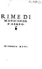 Rime di Monsignor P. Bembo