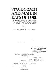 Stage-coach and mail in days of yore: a picturesque history of the coaching age ...
