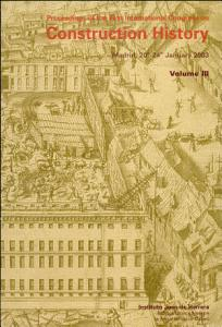 Proceedings of the First International Congress on Construction History  Madrid 20th 24th  January 2003 PDF