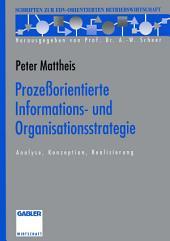 Prozeßorientierte Informations- und Organisationsstrategie: Analyse, Konzeption, Realisierung