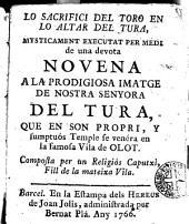 Lo sacrifici del toro...: executat per medi de una devota novena a Nostra Senyora del Tura...