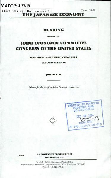 The Japanese Economy PDF