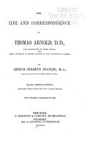 The Life and Correspondence of Thomas Arnold  D D  PDF