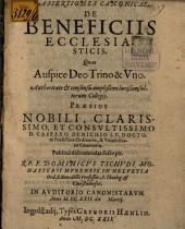 Assertiones canonicae de beneficiis ecclesiasticis