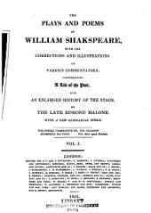 The Plays and Poems of William Shakspeare: Volume 1