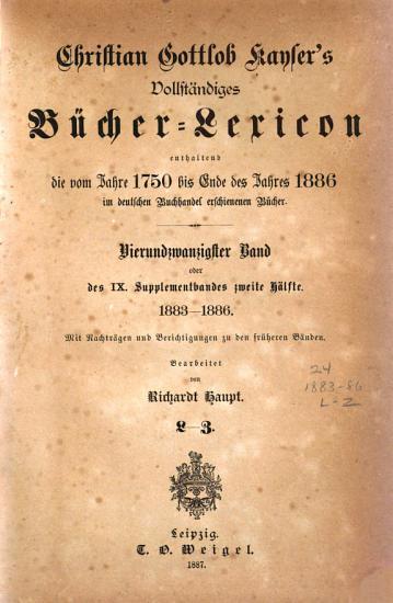 Vollst  ndiges B  cher Lexicon     1750 1910 PDF