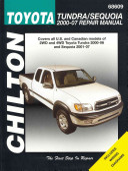 Chilton Toyota Tundra/Sequoia 2000-2007 Repair Manual