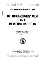 The manufacturer's agent as a marketing institution