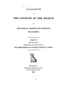 Catalogue of the Contents of the Museum of the Royal College of Surgeons in London PDF