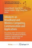 Advances on Broadband and Wireless Computing  Communication and Applications PDF