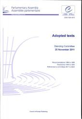 Adopted Texts: Standing Committee 25 November 2011