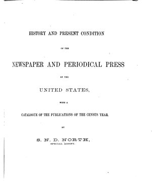 Census Reports Tenth Census  The newspaper and periodical press PDF