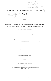 American Museum Novitates: Bird papers, Issues 2-243